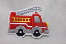 Fire Truck New Embroidered Sew/ Iron On Name Patch Tag
