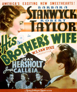His Brother's Wife - 1936 - Barbara Stanwyck Robert Taylor - Vintage  Film DVD
