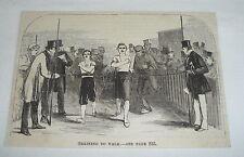 1870 magazine engraving ~ Training To Walk