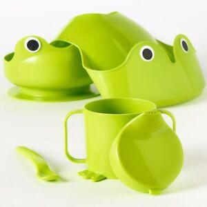 IKEA MATA 4 Piece Baby Toddler Weaning Dinning Set Green Frog Set. FREE PnP