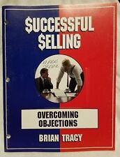Pre-owned ~ Successful Selling by Brian Tracy - Overcoming Objections Booklet