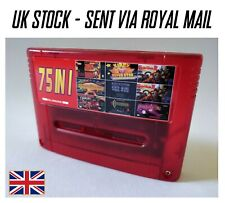 75-in-1 SNES Game Cart (PAL) for Super Nintendo Red with Save Function