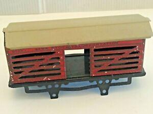 Ives 55 Stock Car 4 Wheel Red Litho Prewar O Gauge Live Stock Transportation Car