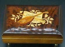 "Vintage Florentino SORRENTO MUSIC BOX w/ Wood Inlay, Plays ""isle of Capri"""