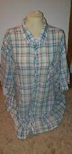 *PENGUIN* Linen - Check Plaid White Navy/Blue/Red/Green Short Sleeve Shirt-XXXL