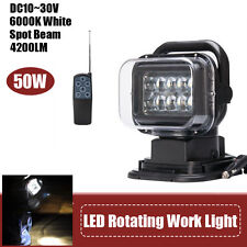 CREE LED Spot Beam Work Light 7inch 50W 4200LM 6000K Remote Control Search Light