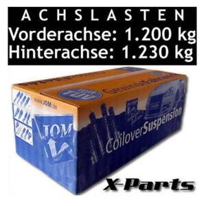 Advertencias coilover suspensión kit Blueline Skoda Fabia Vrs 5J Mk2 1.4TSi