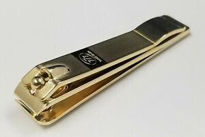 "777 Ultra Wide Toe & Finger Nail Clipper ""Straight"" Gold Made In Korea"