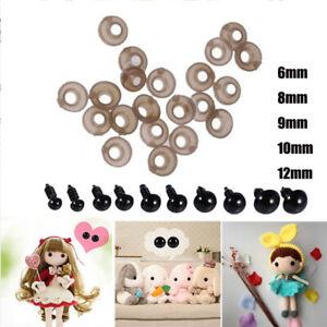 100Pcs DIY Plastic Safety Eyes&Washers Dolls Toys Animal Making Craft Eyes