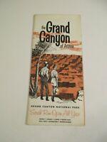 Vintage Grand Canyon Arizona National Park Travel Brochure Pamphlet~Box P1