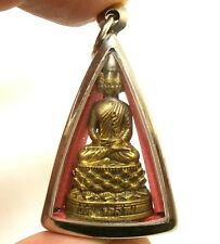 LORD BUDDHA THAI AMULET PENDANT NAWAGOTE 9 FACE WIN OBSTACLE LUCKY RICH SUCCESS