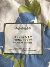 Pottery Barn Fiona Duvet Cover Set Queen 2 Shams Organic Floral New Never Used