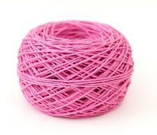 Pure LINEN YARN DK knitting, double knitting, crochet, top QUALITY Cerise