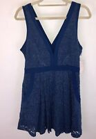 Free People Blue Lace Cocktail Dress Size Medium New $128