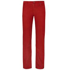 MAISON MARTIN MARGIELA $500 red cotton corduroy trousers slim fit pants 48 NEW