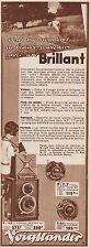 Y8735 Voigtlander - BRILLANT - Pubblicità d'epoca - 1935 Old advertising