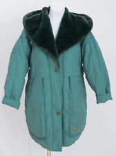 WOMENS NORDICA UNICA VINTAGE COAT DOWN PADDED JACKET GREEN SIZE S SMALL EXC