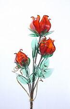 Red Roses Crystal Glass Flower Lovely Decoration For Living Room Study Bedroom