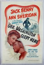 GEORGE WASHINGTON SLEPT HERE 1942 ORIGINAL MOVIE POSTER - JACK BENNY