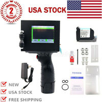 600DPI Handheld Inkjet Printer 2-12.7mm Print Date Time Words QR Code Logo USA