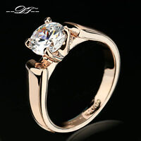 New Cubic Zirconia Ring 18K Rose Gold/Platinum Plated Wedding Jewelry For Women