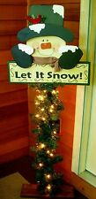 "HOLIDAY PRIMITIVE WOOD CRAFT PATTERN-""LET IT SNOW""-54"" TALL PORCH GREETER"