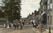 Newhaven High Street  pc used 1905 Squared Circle postmark Arrow Series
