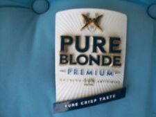 large pure blonde METAL BEER TAP HANDLE  FRONT -  FOR THE MAN CAVE OR BAR