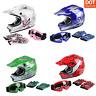 DOT Youth Helmet Child Kids Motorcycle Full Face Offroad Dirt Bike ATV S M L XL