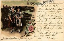CPA  Gruss aus Elsass-Lothringen - Litho - Folklore - Types  (481545)