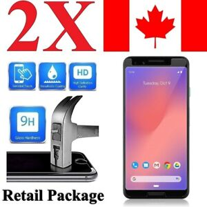 (2 Pack) Premium Screen Protector Cover for Google Pixel 3 / 3 XL / 3a / 3a XL
