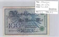 BILLET ALLEMAGNE - 100 MARKS 7-2-1908