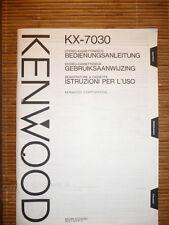 mode d'em Ploi / Mode d'em Ploi pour Kenwood kx-7030, original