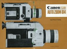 "PUBBLICITA' WERBUNG "" CANON SUPER 8 - AUTO ZOOM 814 "" INSTRUCTIONS"