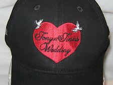 Wedding Cap (NWO) & Matching Tie / Black & Red TONY & TINA