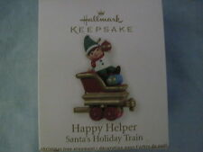 2011 Hallmark HAPPY HELPER Ornament SANTA'S HOLIDAY TRAIN NIB ELF