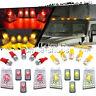 10Pcs Red White LED Cab Marker Roof Top Lights For 2003-2009 Hummer H2 SUV SUT