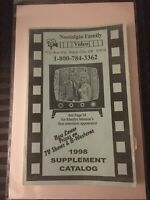 Nostalgia Family Video 1998 Supplement Catalog VHS Rare Mail Order Company