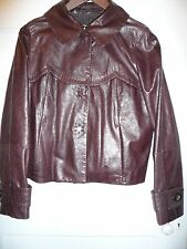 Women's SportMax -Max Mara- Brown Nappa Leather jacket,UK 6