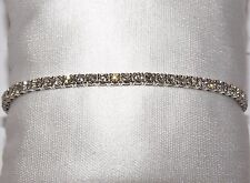 BRACCIALE ORO BIANCO 18 KT DIAMANTI BRILLANTI ct 4.55 BRACELET GOLD DIAMONDS