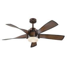 Kichler Lighting 52-in Mediterranean Walnut Downrod Mount Indoor Ceiling Fan