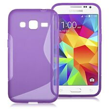 HOUSSE ETUI COQUE SILICONE GEL VIOLET  SAMSUNG GALAXY CORE PRIME