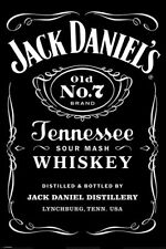 JACK DANIELS POSTER OLD No7 BRAND TENNESSEE SOUR MASH WHISKEY LABEL