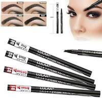 4 Heads Microblading Make up Eyebrow Tattoo-Pen Fork Tip Eye Brow Pencil Ink Pen