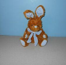 "Kids of America 9"" Tan Bunny Rabbit Stuffed Plush Animal w/ Blue Corduroy Ears"