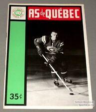 1963-64 AHL Quebec Aces Program Bill Sutherland Cover