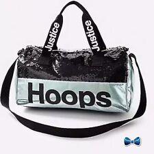 Justice Girls Hoops Flip Sequin Full Size Basketball Duffel Bag