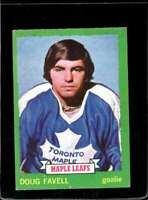 1973-74 TOPPS #119 DOUG FAVELL VGEX MAPLE LEAFS (ST)  *X2252