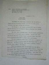 Beach Boys hand typed 1964 press release Concert tour Europe