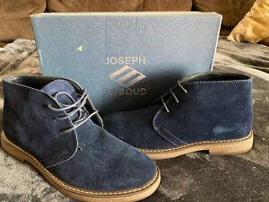 Joseph Abboud Mens Sz 11 Chukka Shoe Navy Suede NWT